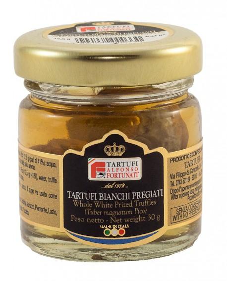 Tartufo Bianco Pregiato Intero (Extra) 12,5 g, in vasetto di vetro - Tartufi Alfonso Fortunati