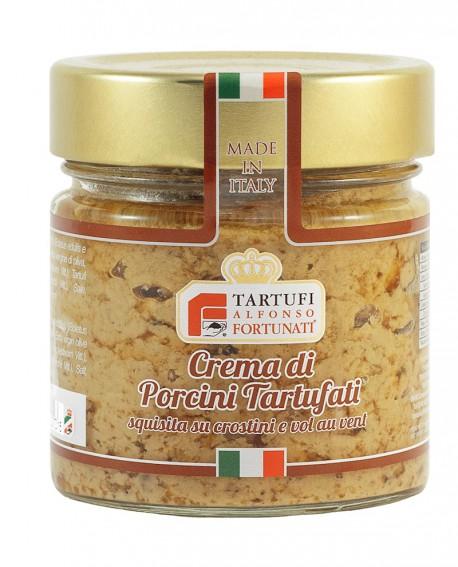 Crema di porcini tartufati 200 g, in vasetto di vetro - Tartufi Alfonso Fortunati