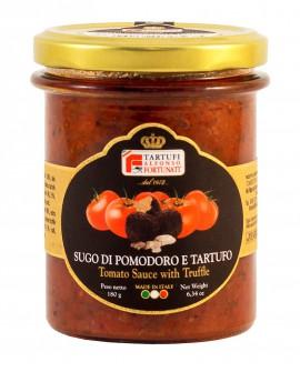 Sugo di pomodoro con tartufo estivo 180 g, in vasetto di vetro - Tartufi Alfonso Fortunati