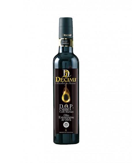 Olio extra vergine di oliva Umbria DOP – Bottiglia da 500 ml – pacco bottiglie - Azienda Agraria Decimi
