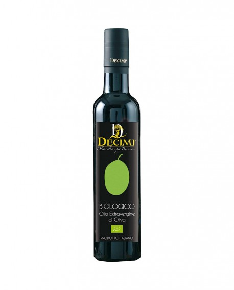 Olio extra vergine di oliva Biologico – Bottiglia da 500 ml – pacco 6 bottiglie - Azienda Agraria Decimi