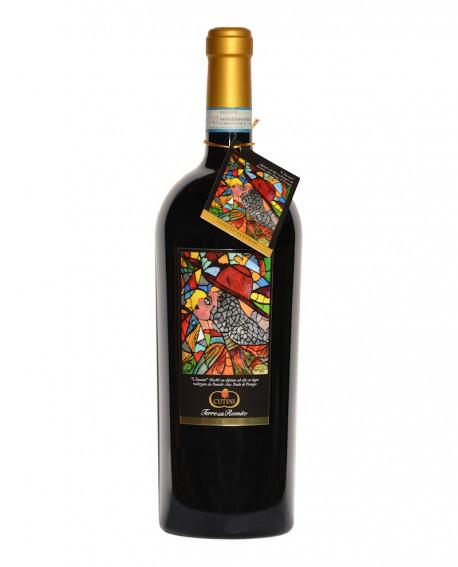 Magnum 1,5 litri Montefalco Rosso D'Autore - L'INCANTO - Bottiglia bordolese tronco conica - Cantina Cutini