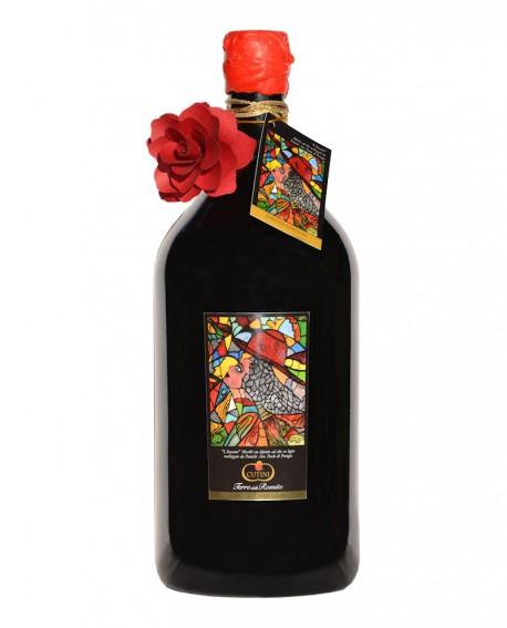 Magnum 3 litri Umbria Rosso IGPD'Autore - Bottiglia bordolese cilindrica - Cantina Cutini