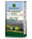 Olio Extra Vergine di Oliva Biologico estratto a freddo 100% italiano - 5 l - Crudigno