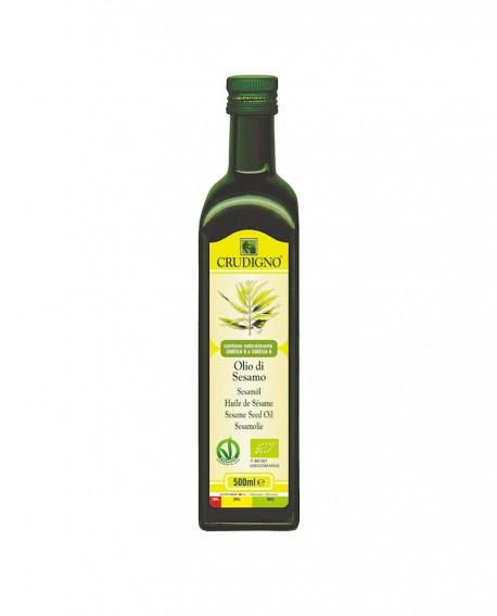 Olio di semi di Sesamo biologico spremuto a freddo - 500 ml - Crudigno
