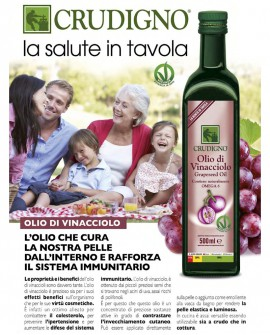Olio di semi di Vinacciolo - 500 ml - Crudigno