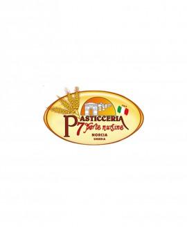 Panettone Artigianale con gocce di Cioccolato Glassato con mandorle e zucchero - 1000g - Pasticceria 7 Porte Nursine