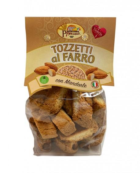 Tozzetti al farro con mandorle - 250g - Pasticceria 7 Porte Nursine - Dolciaria Severini