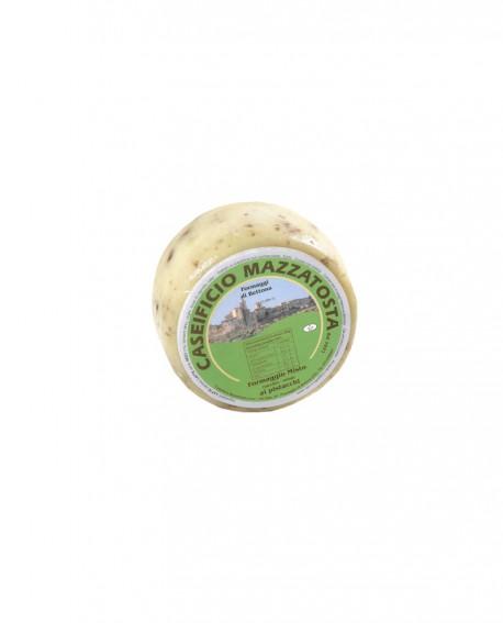 Formaggio Misto al pistacchio - ovino-vaccino 320-360g - stagionatura 20 giorni - Caseificio Mazzatosta