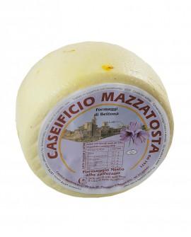 Formaggio Misto allo zafferano - ovino-vaccino 1,4-1,6 Kg - stagionatura 20 giorni - Caseificio Mazzatosta