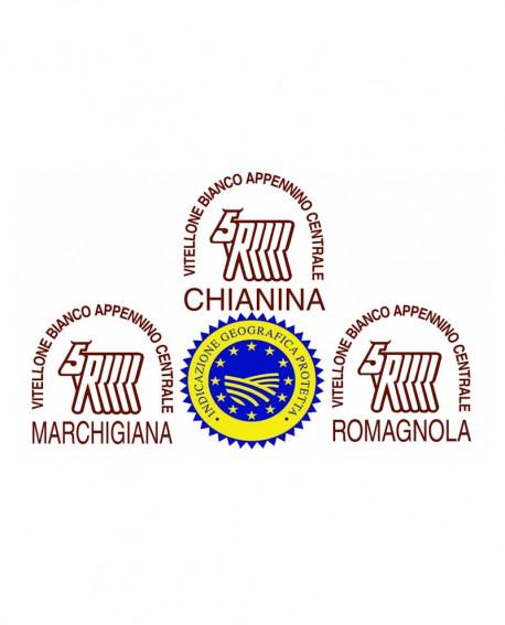 Lombo intero di Romagnola IGP in scatola - 28 Kg - frollatura 7gg - Macelleria Carni IGP Certificate