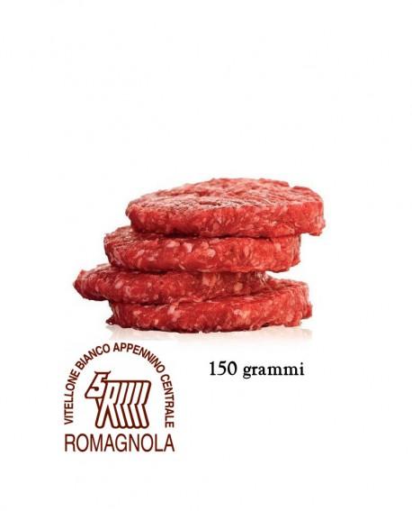 Hamburger di Romagnola IGP 150g, in vaschetta ATM, cartone da n.32 pezzi - 4,8 Kg - Macelleria Carni IGP Certificate