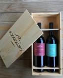 Cassetta degustazione di n.2 bottiglie da 0,75 lt in cassetta di legno - Cantina PoggioLupo