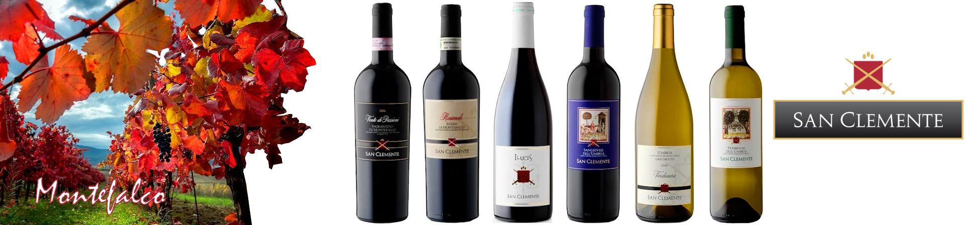 Vini Rosso di Montefalco, Sagrantino di Montefalco, Umbria Grechetto, Trebbiano dell'Umbria  - Cantina San Clemente vendita online