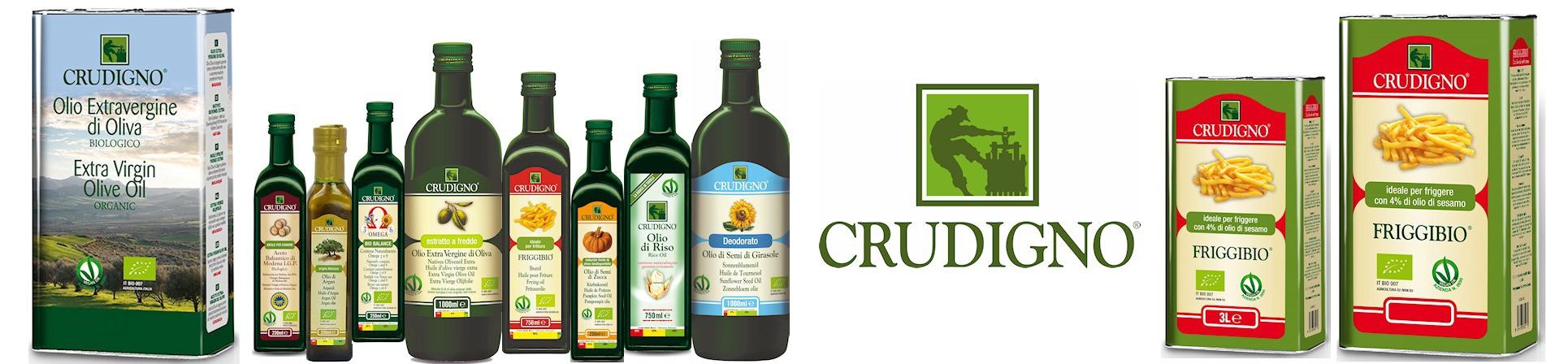 Oli di semi biologici, girasole, sesamo, lino, riso, vinacciolo, zucca, friggibio - CRUDIGNO vendita online