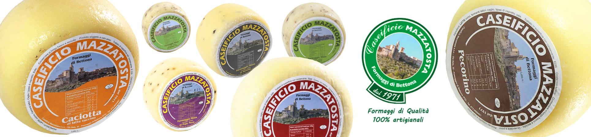formaggi, caciotte e pecorino vendita online - Formaggi di Bettona Caseificio Mazzatosta Ilario